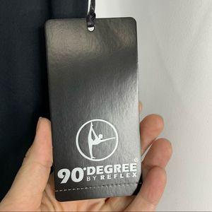 90 Degree By Reflex Pants - NEW 90 degree by reflex leggings black silver xl